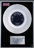"BILLY FURY -  7"" Platinum Disc -   IN THOUGHTS OF YOU"